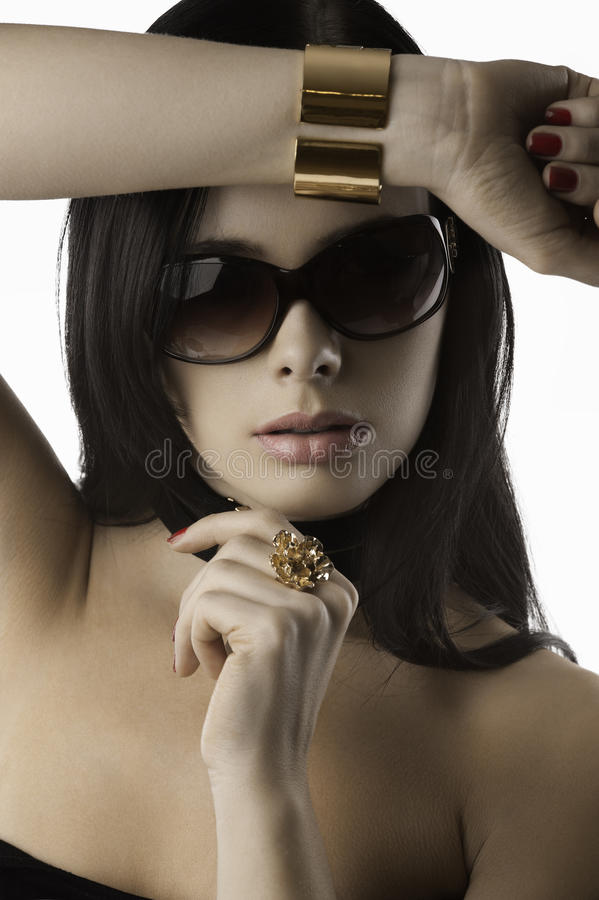 Download Fashion Woman With Jewellery Red Nails Stock Photo - Image: 24088752