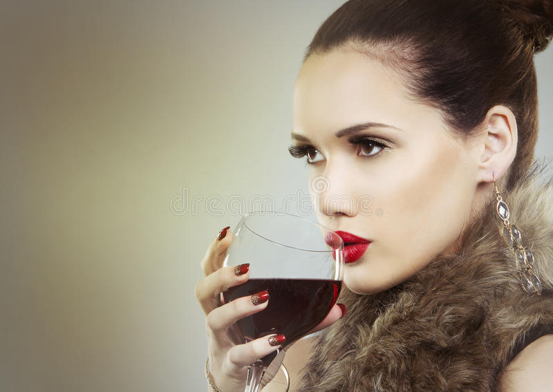 Nude Girl With Glass Of Red Wine Stock Image - Image Of Lifestyle, Body 62338755-5218