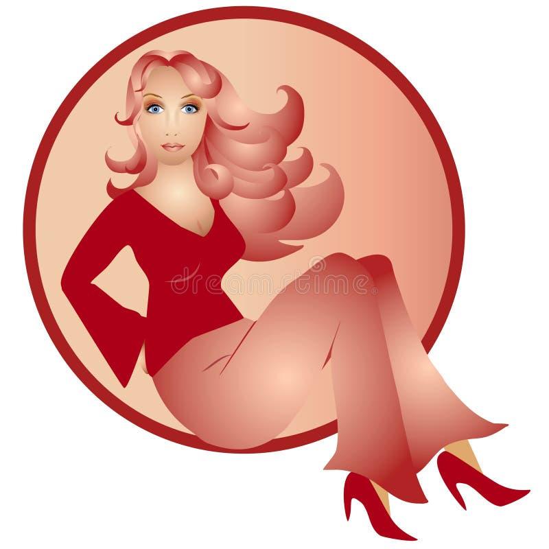 Fashion Woman Pink Theme royalty free stock photography