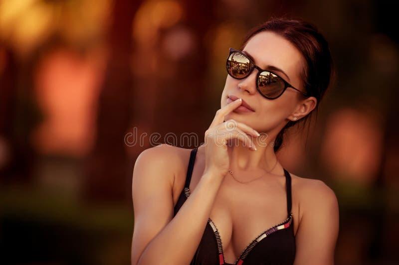 Fashion woman portrait stock image