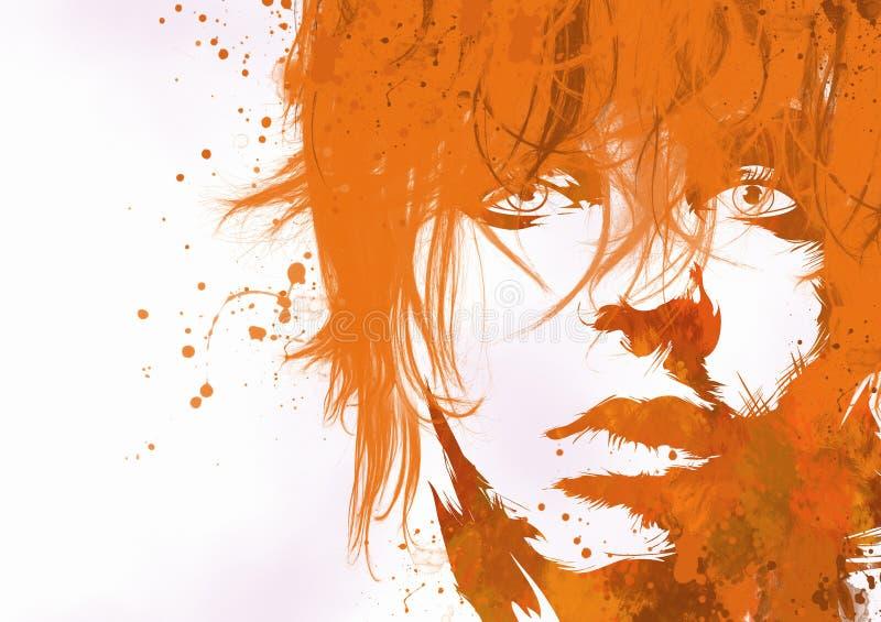 Fashion woman's face stock illustration