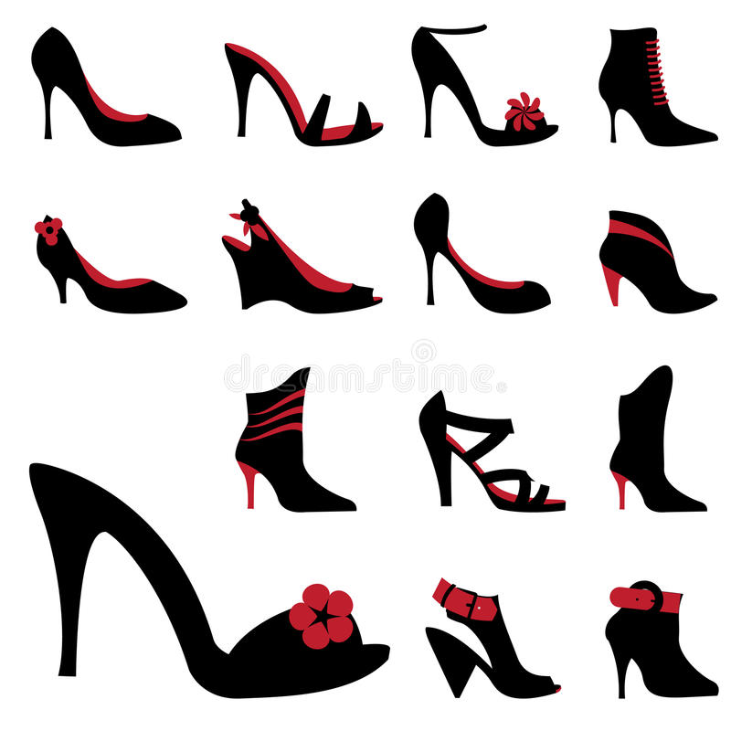 Download Fashion woman shoes stock vector. Image of white, human - 14850375