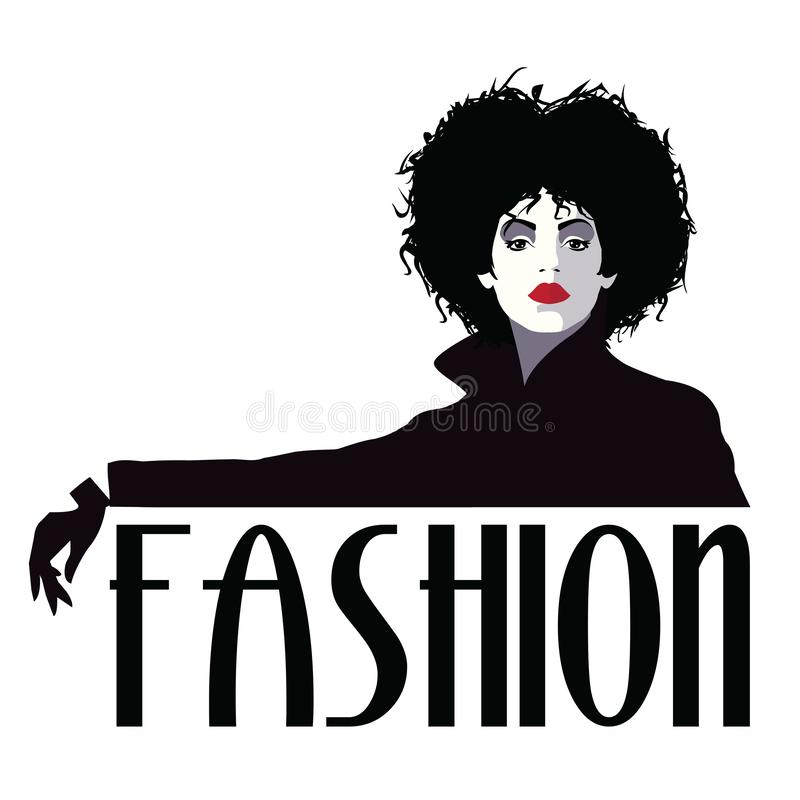 Fashion woman in style pop art. Fashion illustration royalty free stock photography