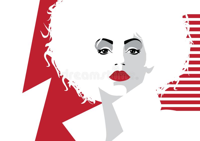 Fashion woman in style pop art. Vector illustration. Fashion woman in style pop art stock illustration