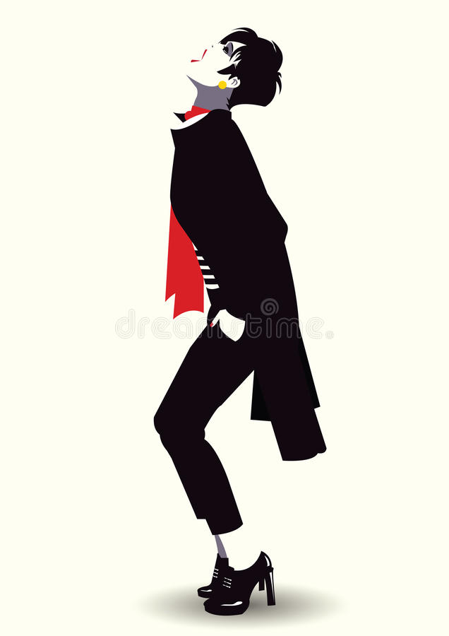 Fashion woman in style pop art. Vector illustration vector illustration