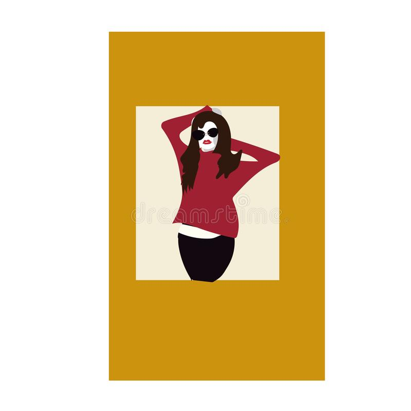 Fashion woman in style pop art. Vector illustration. Elegant vector illustration