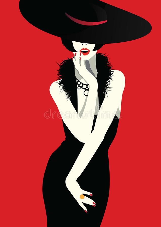 Fashion woman in style pop art. Fashion illustration stock photography