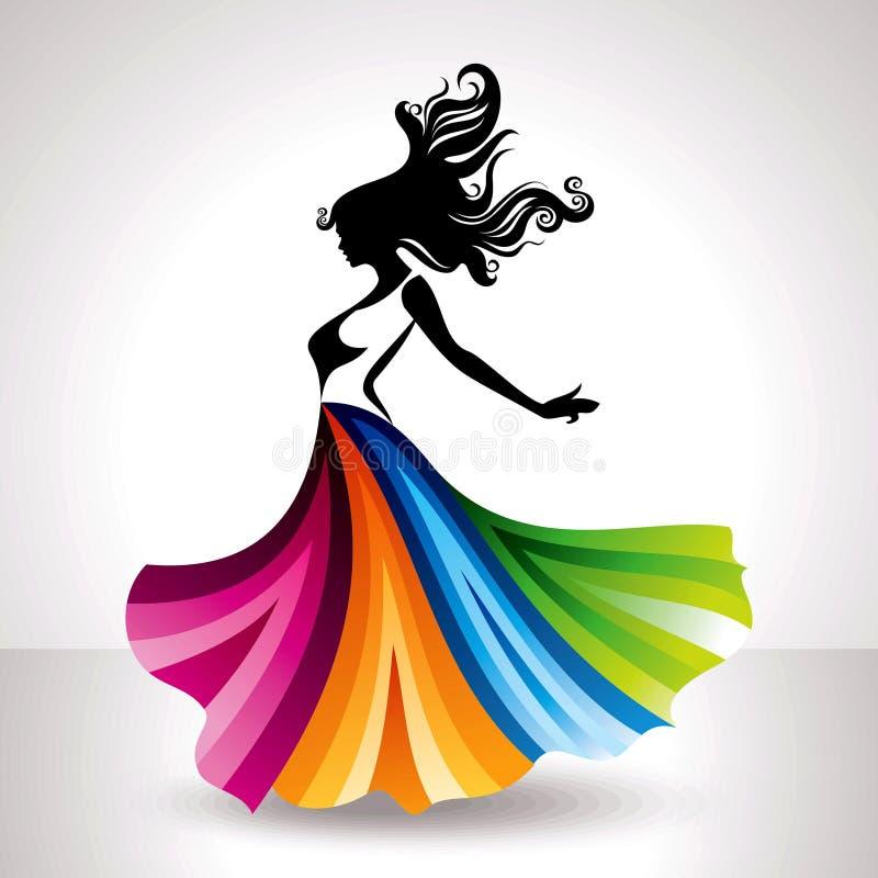 Fashion women illustration in glamourus style vector illustration