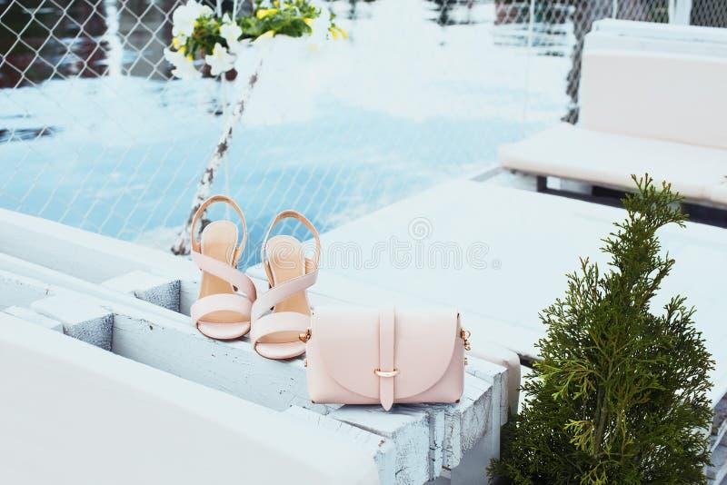 Fashion women`s shoes image. stock photo