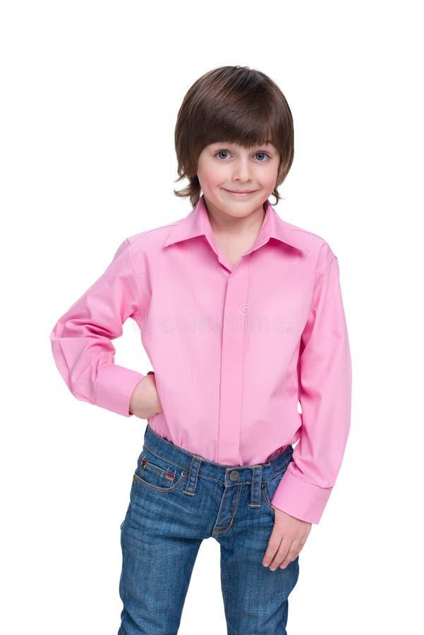 Fashion young boy royalty free stock photos
