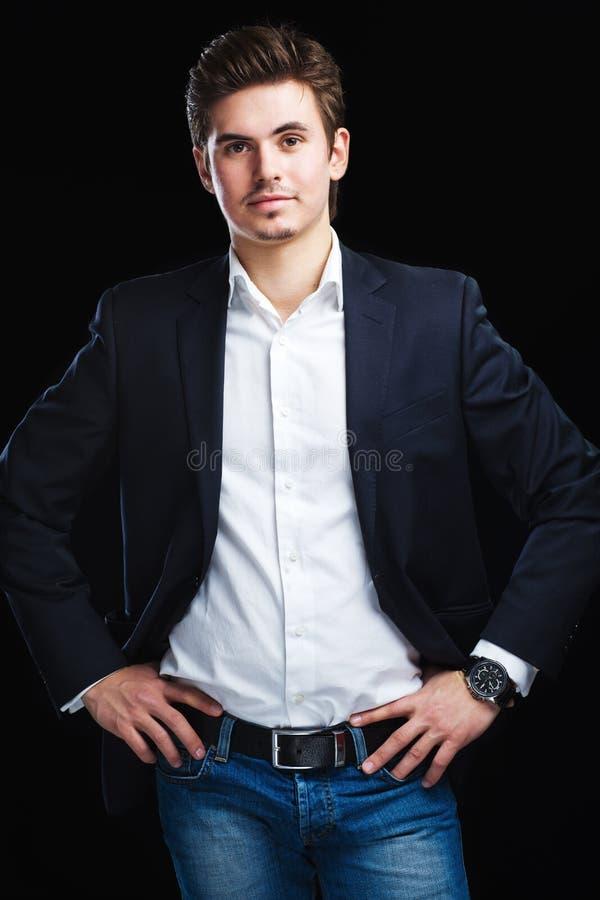 Download Fashion Young Businessman Black Suit Stock Photo - Image: 23600740