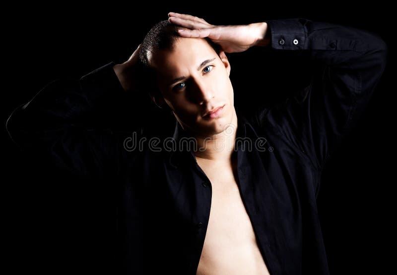 Fashion young man stock photos