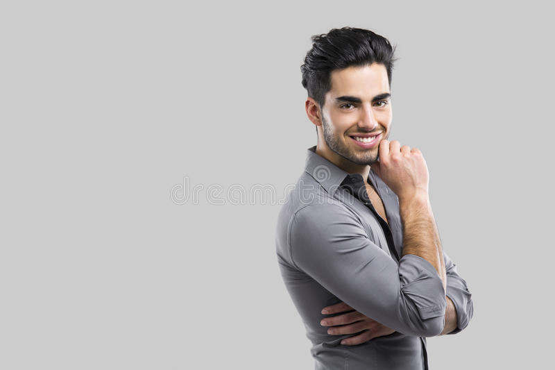 Fashion young man royalty free stock images