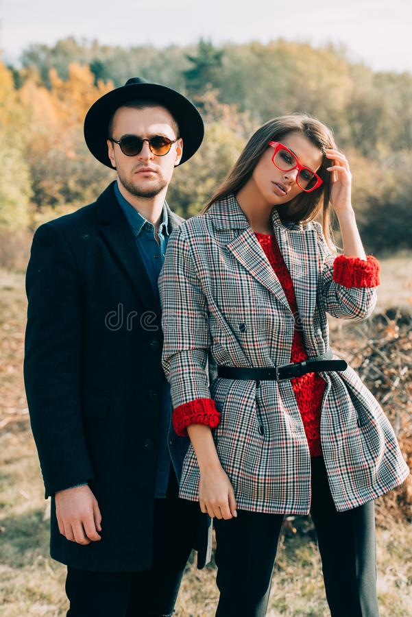 Fashion young people royalty free stock image