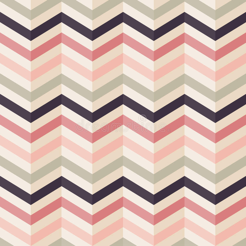 Free Fashion Zigzag Pattern In Retro Colors Royalty Free Stock Photo - 29467745