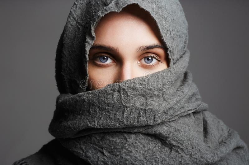 Fashionable arab style woman stock images