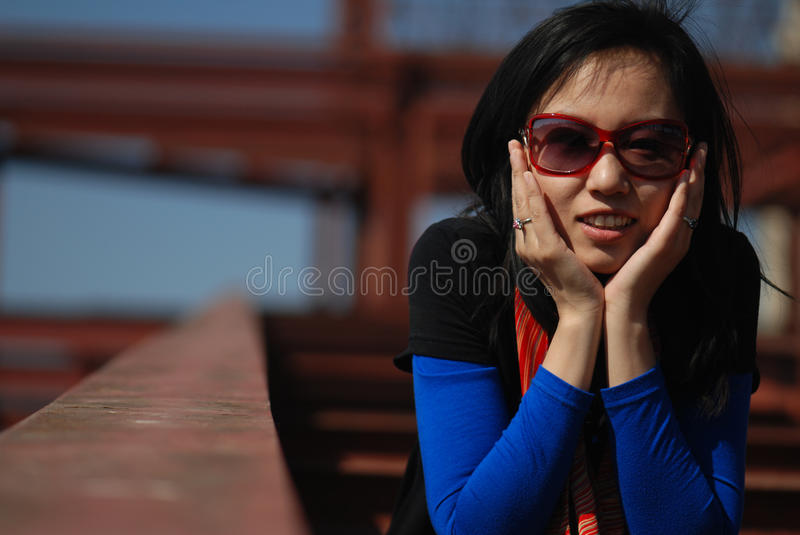 Fashionable Asian Woman Royalty Free Stock Images