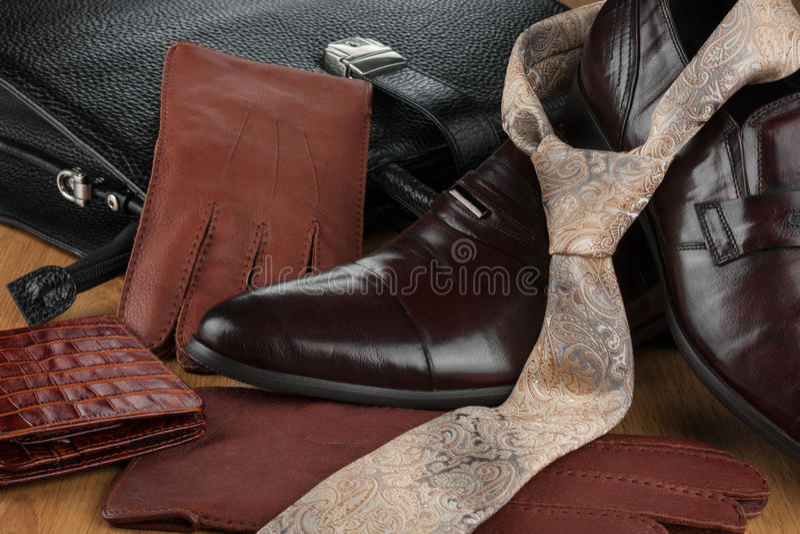 Fashionable background, beautiful men's fashion stock photo