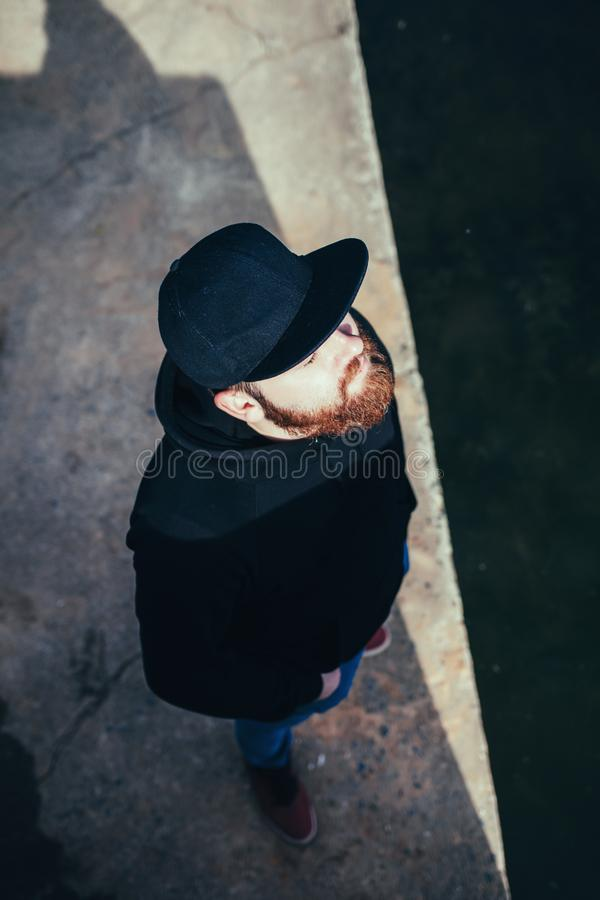 Fashionable bearded man stock photo