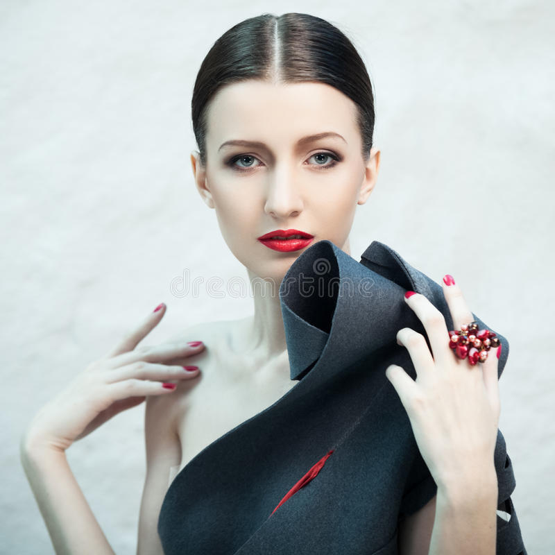 Fashionable beauty stock images