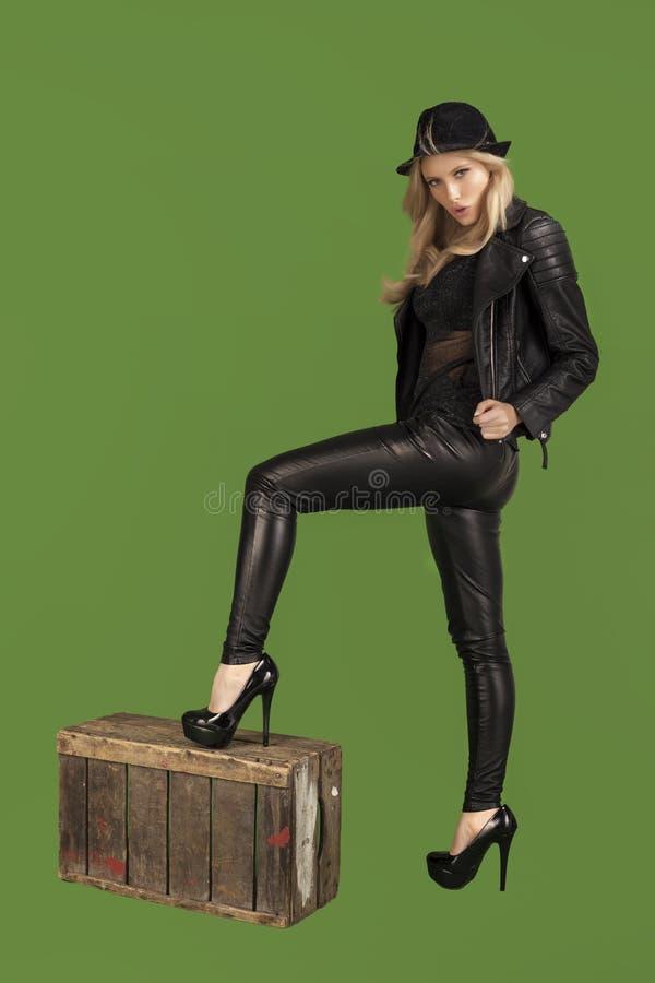 Free Fashionable Blond Woman. Stock Photo - 47559930