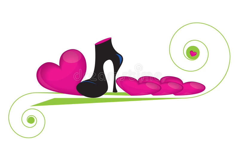 Download Fashionable boot stock vector. Image of boot, valentine - 18137457