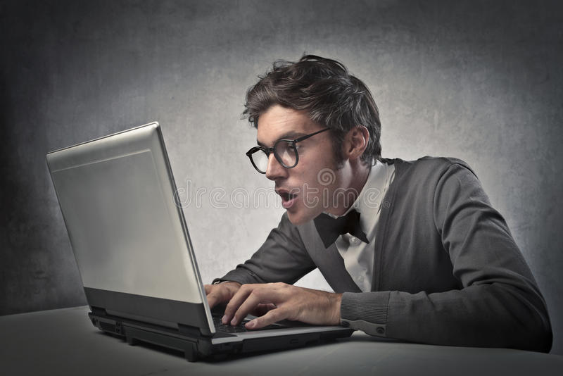 Download Fashionable Boy At The Computer Stock Photo - Image: 26735840