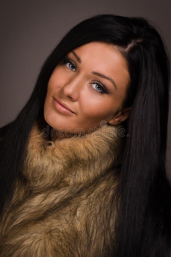 Fashionable brunette women royalty free stock photography