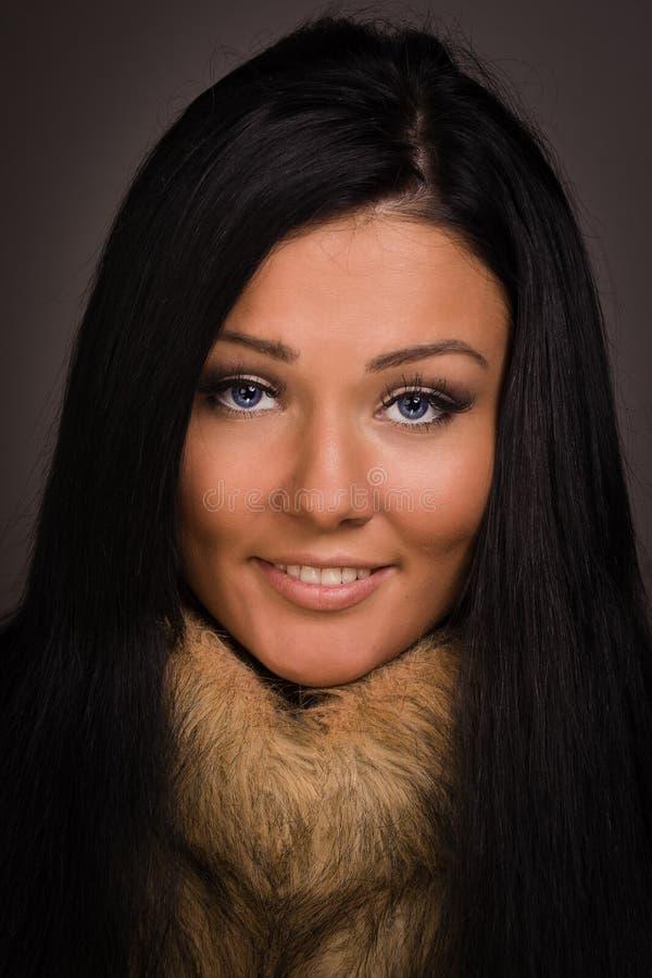 Fashionable brunette women stock photography