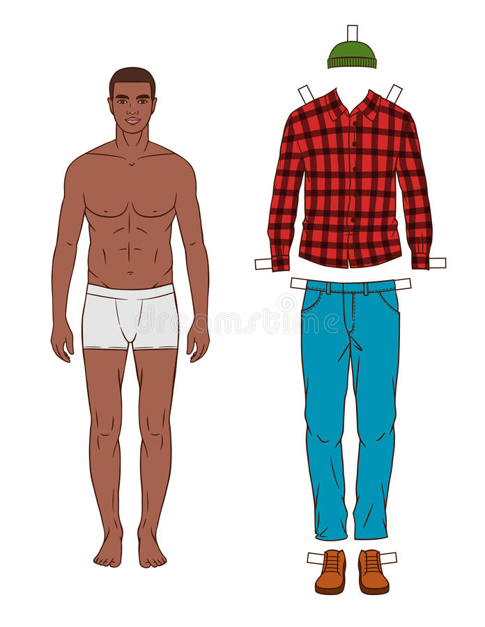 Fashionable Dark Skin Man With Clothes Stock Illustration Illustration Of Lifestyles Modern