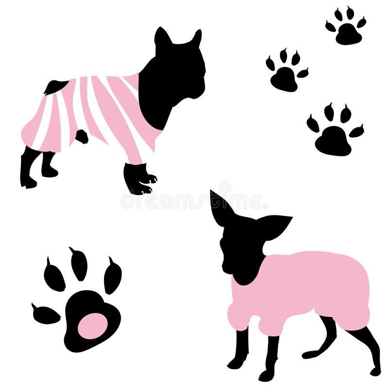A Fashionable Dog Stock Photography