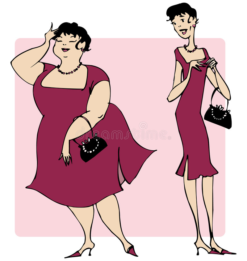 Fashionable dress stock illustration