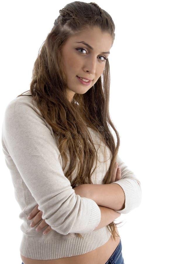 fashionable female model posing στοκ φωτογραφία με δικαίωμα ελεύθερης χρήσης