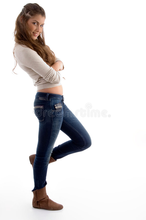 fashionable female model posing στοκ εικόνα με δικαίωμα ελεύθερης χρήσης