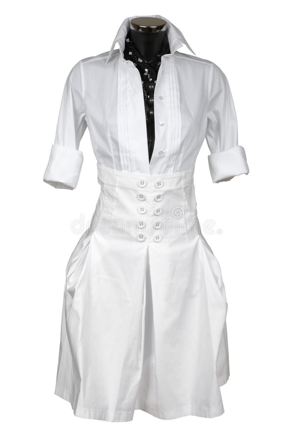 Fashionable female suit royalty free stock photography