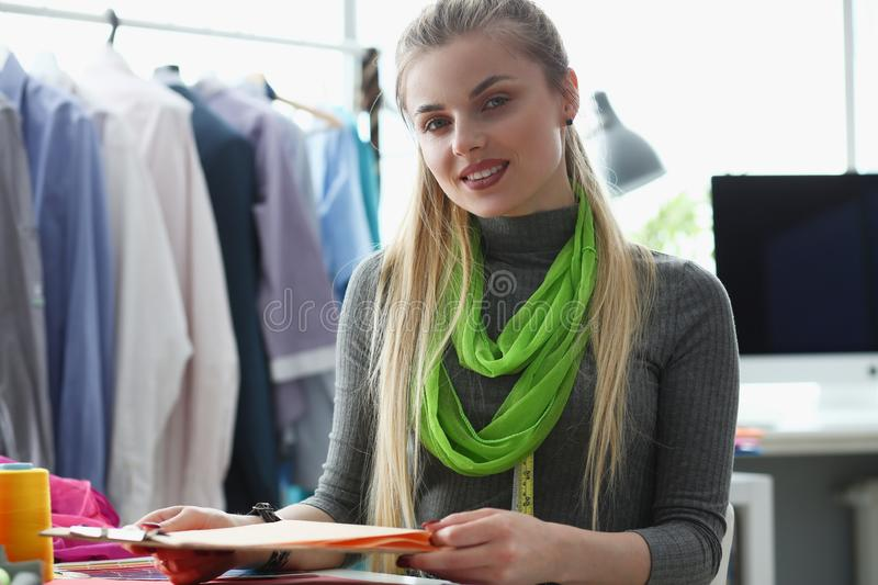Fashionable Garment Creating Tailoring Service stock photo
