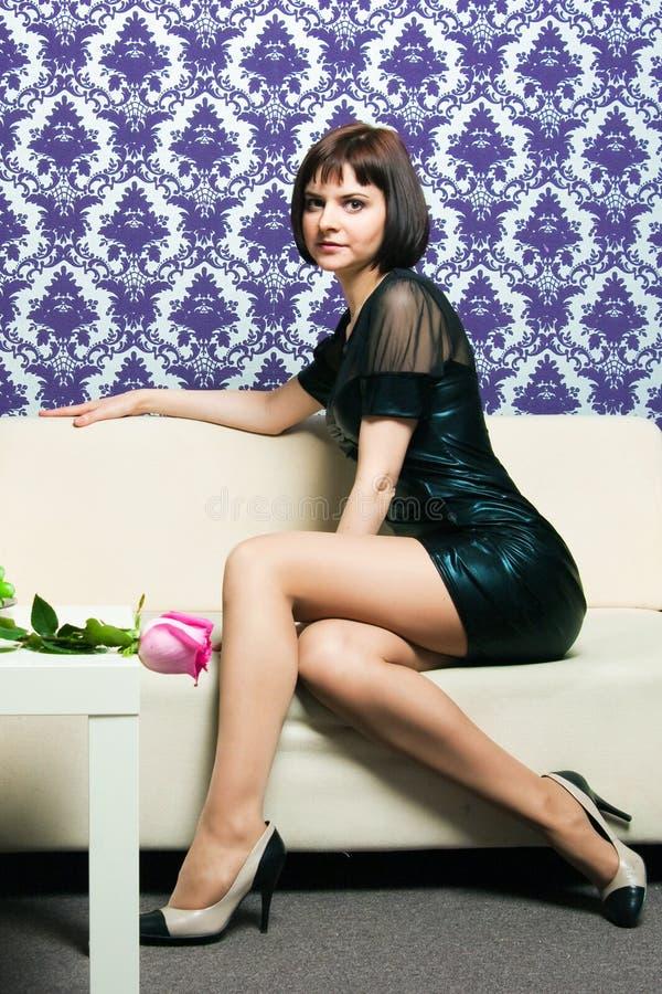 The fashionable girl stock image