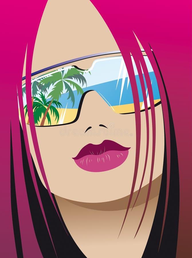 Fashionable girl stock illustration