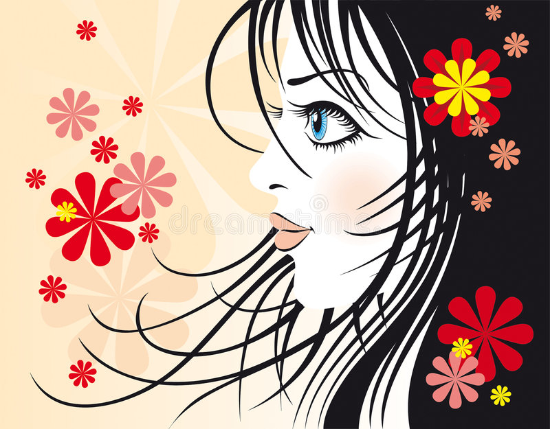 Download Fashionable girl stock vector. Illustration of beautiful - 4292018