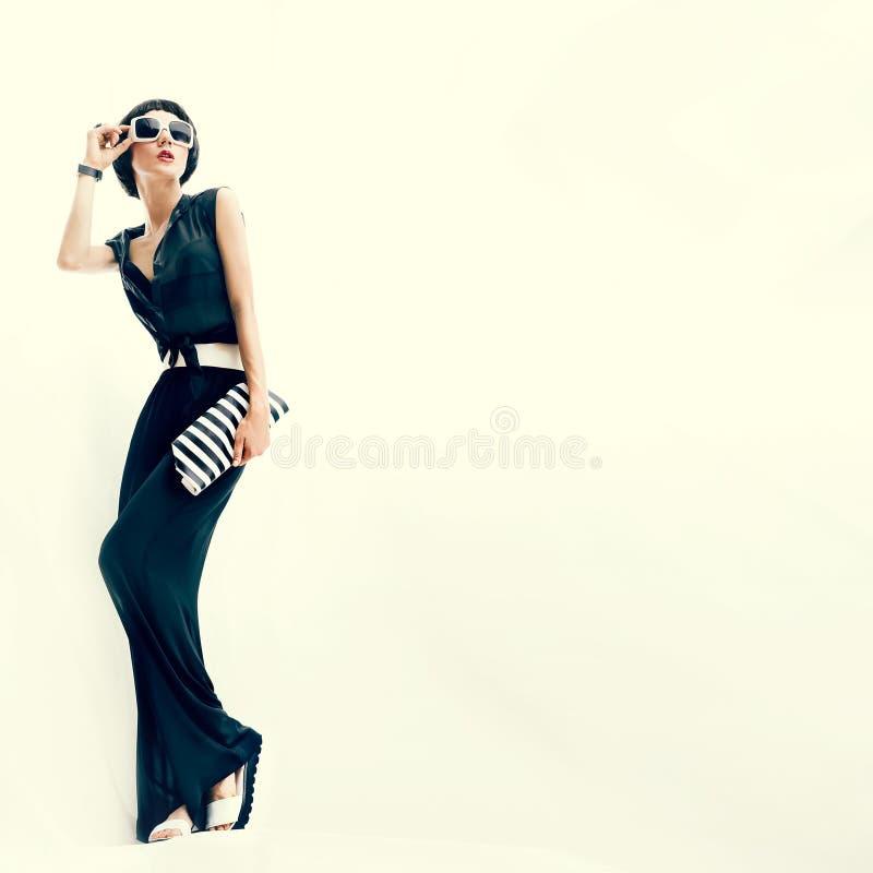 Fashionable girl. Rio de Janeiro style royalty free stock images