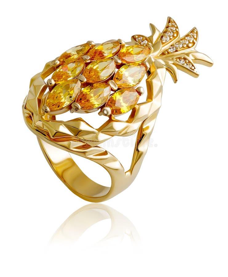 Fashionable gold ring stock photo. Image of closeup, ring - 70830378