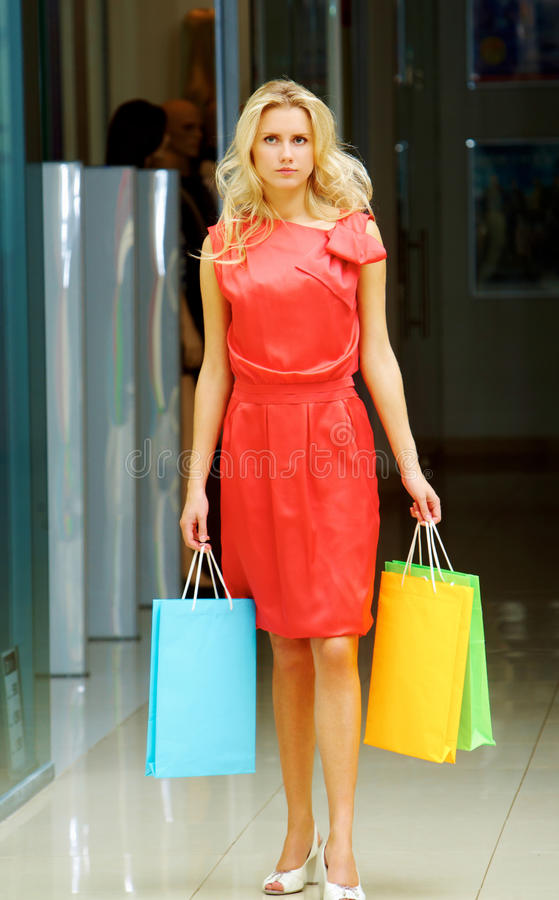 Download Fashionable lady stock photo. Image of glamorous, mall - 16434778