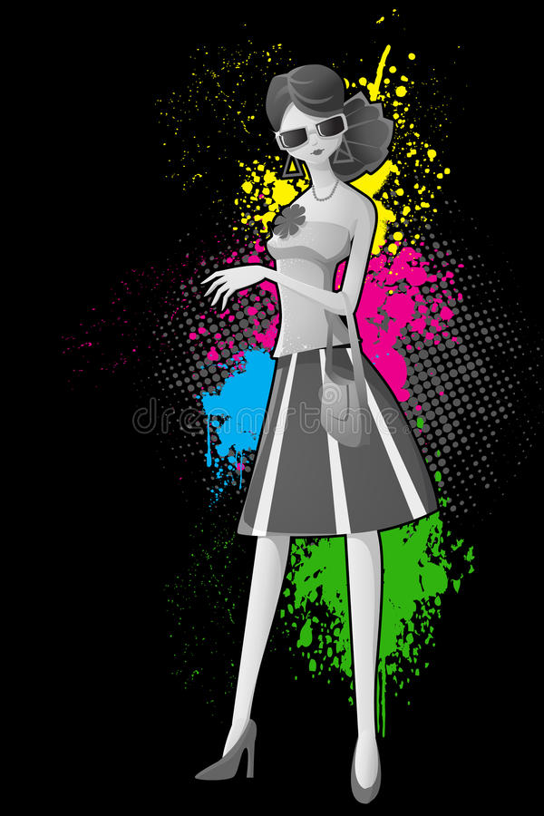 Download Fashionable Lady stock vector. Image of adult, background - 24562415