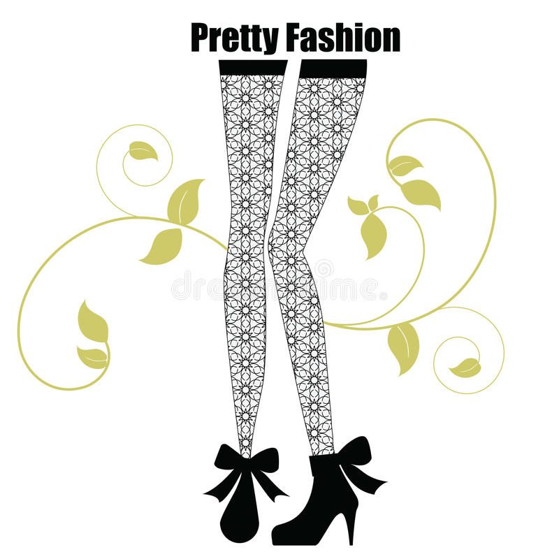 Download Fashionable Leggings With Pattern Stock Vector - Image: 17735429