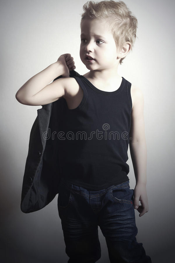 Fashionable little boy.fashion children.handsome boy royalty free stock images
