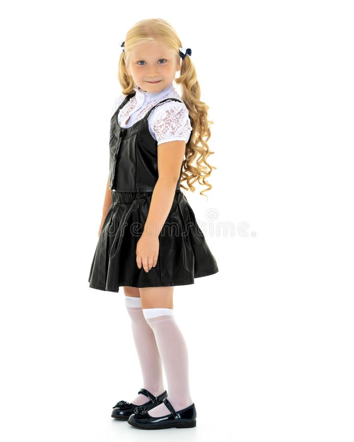 Fashionable little girl. royalty free stock images
