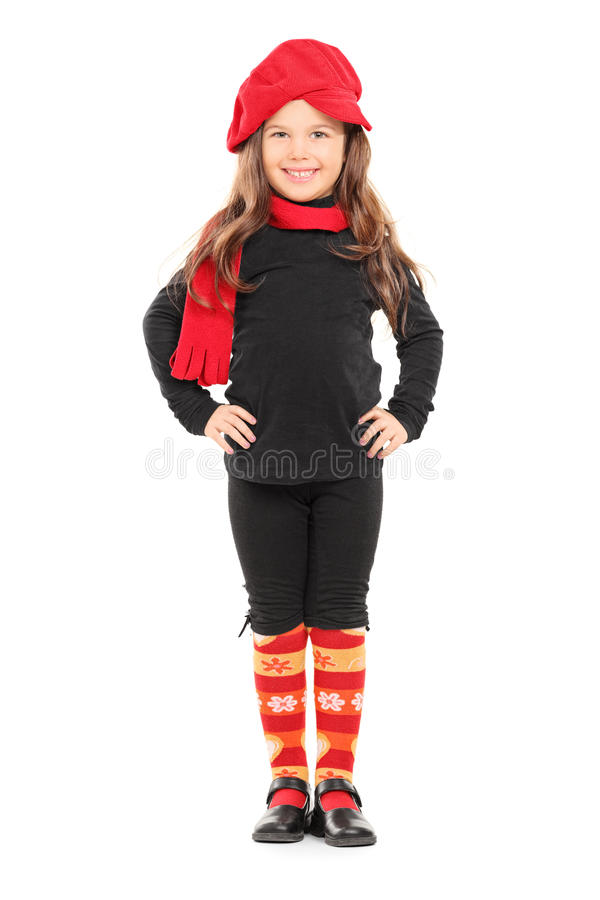Free Fashionable Little Girl With Red Beret Stock Photos - 38352443