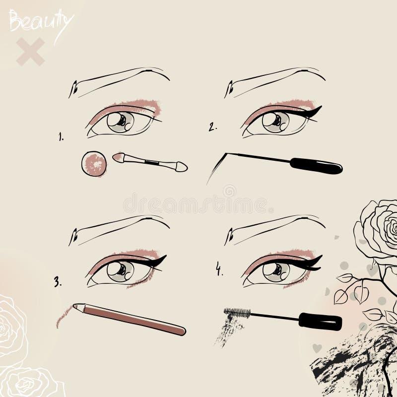 Fashionable Make-up Stock Photos