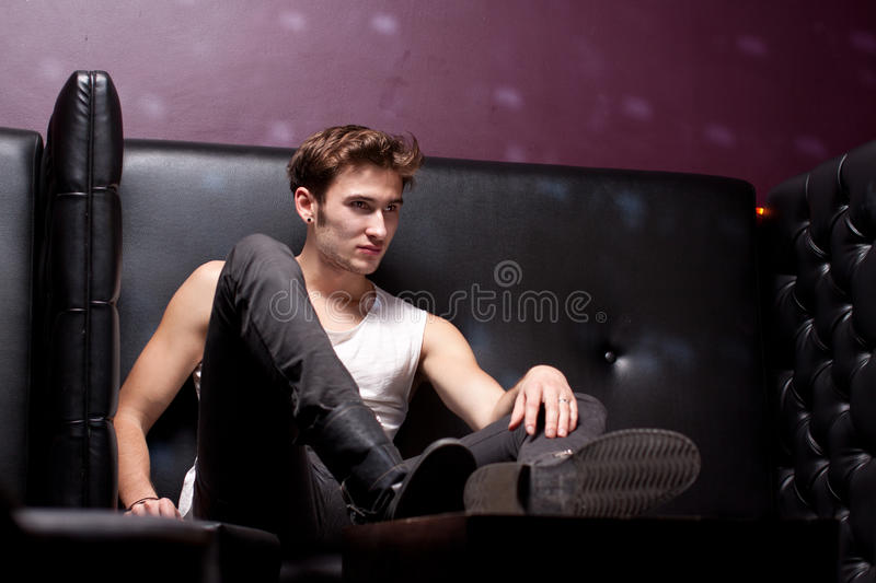 Download Fashionable Male Model In The Club Stock Images - Image: 21972594