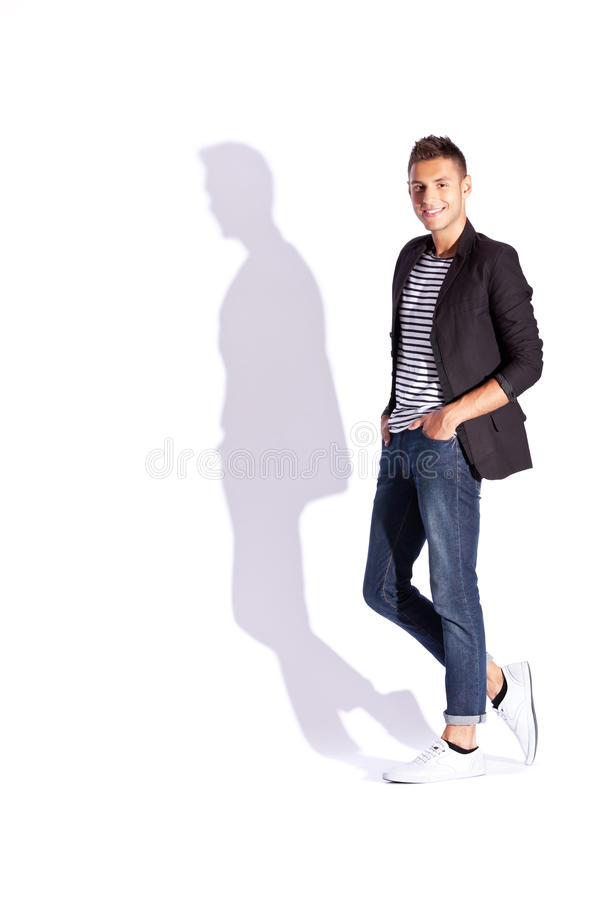 Download Fashionable Man In Suit Jacket Stock Photo - Image of male, effort: 25079080